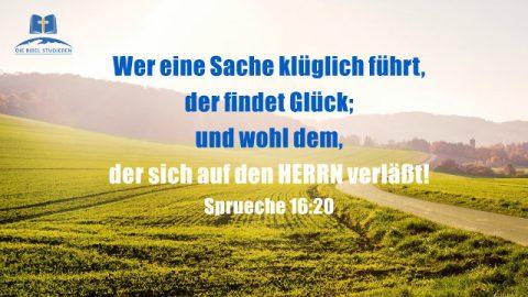 Bibelverse über Glück