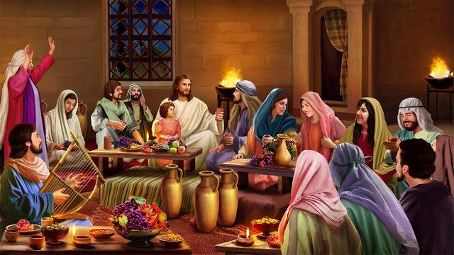 Biblische Geschichte Kanas Hochzeit