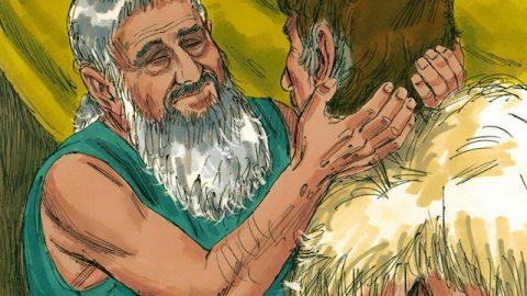 Die biblische Geschichte - Isaak segnet Jakob