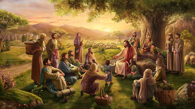 Kinder, in das Königreich des Himmels eintreten