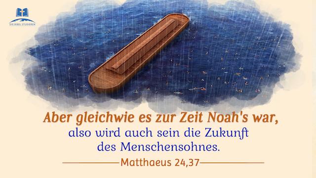 die Zeit Noah's, Menschensohn