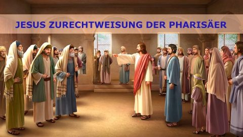 Jesus Zurechtweisung der Pharisäer