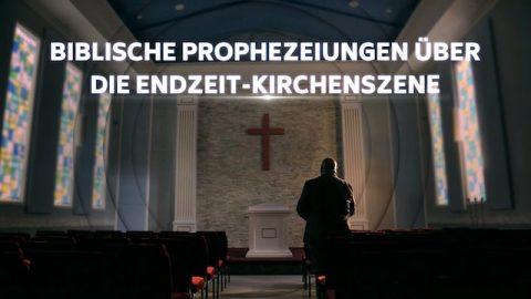 Biblische Prophezeiungen über die Endzeit-Kirchenszene
