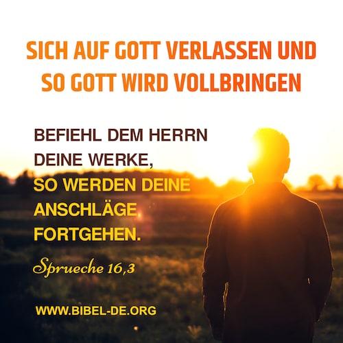 Bibelzitate Sprüche 16 3