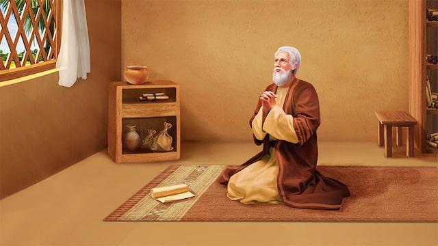 Hiob betet zu Gott-min