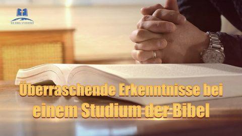Bibel lesen - Überraschende Erkenntnis bei einem Studium der Bibel