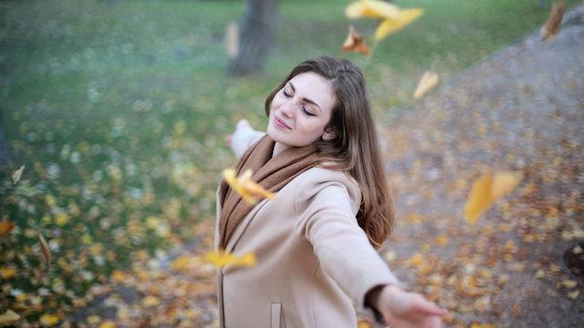 Mädchen, Frei, Herbst