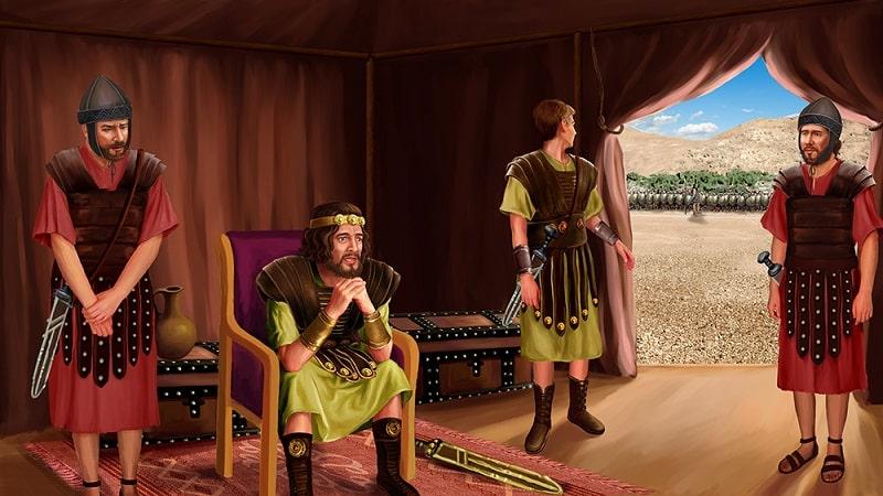 Da Saul und ganz Israel diese Rede des Philisters hörten, entsetzten sie sich und fürchteten sich sehr.