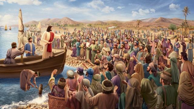 Jesus heilt die Menschen