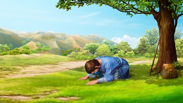 Petrus betet zu Gott