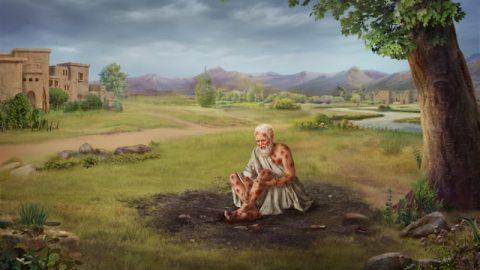 Hiob verflucht den Tag seiner Geburt, weil er nicht will, dass Gott sich seinetwegen quält