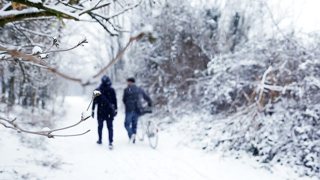 Winter, Zwei Männer
