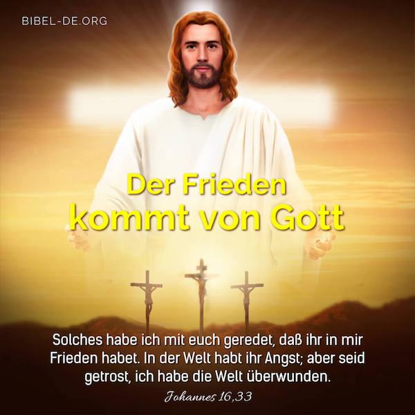 Der Frieden kommt von Gott, Jesus Bild