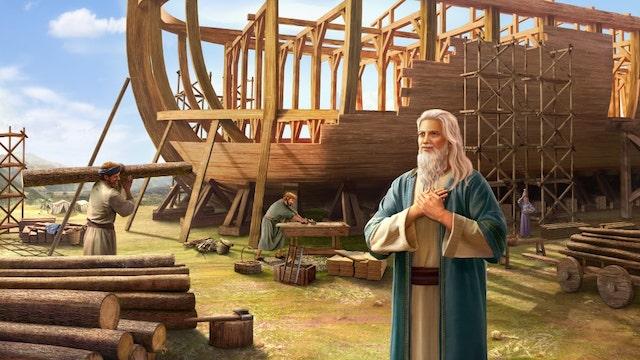 Noah macht die Arche