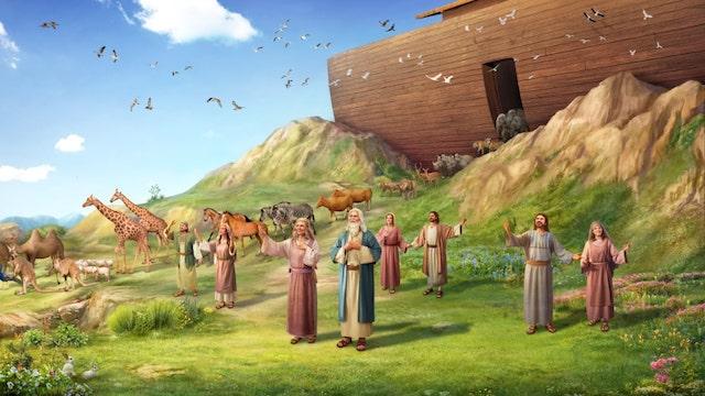 So verließen Noah, seine Familie das Schiff und begaben sich ans Ufer