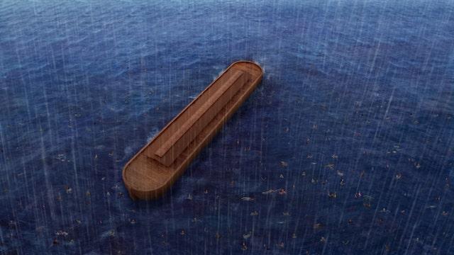 die Welt mit einer Flut zu zerstoeren