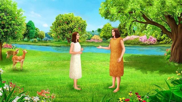 Adam und Eva im Garten Eden
