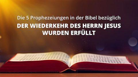 Die 5 Prophezeiungen in der Bibel bezüglich der Wiederkehr des Herrn Jesus wurden erfüllt
