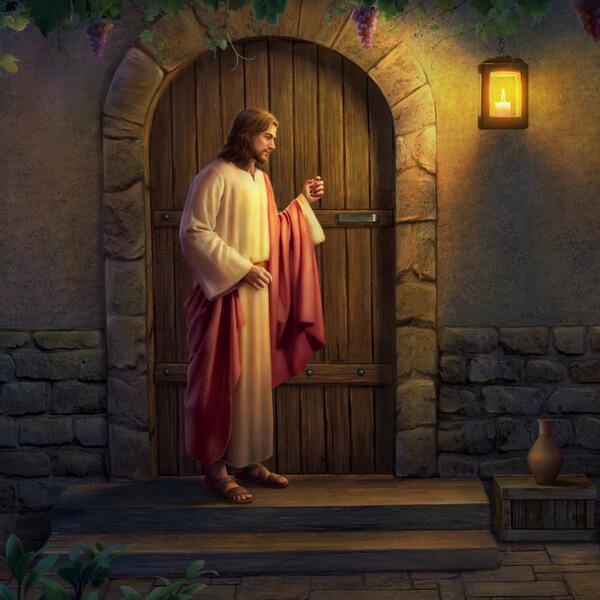 Jesus klopft die Tür an