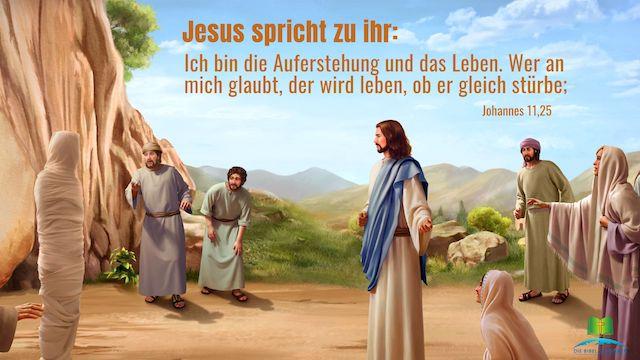 Bild der Auferstehung Lazarus