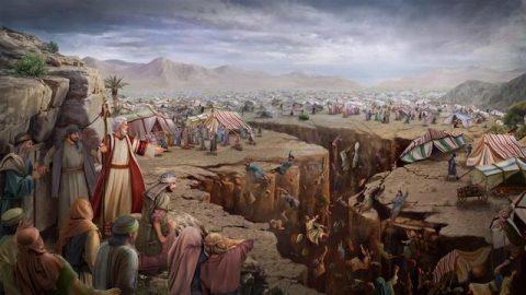 Korah, Dathan und Abiram und 250 Anführer