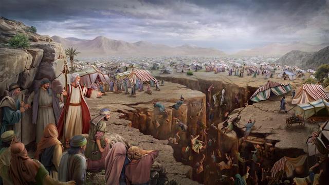 Die Erde verschlang die Rotte Korah