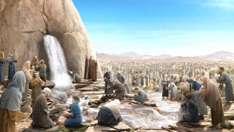 Mose schlägt den Felsen - Bibelgeschichten