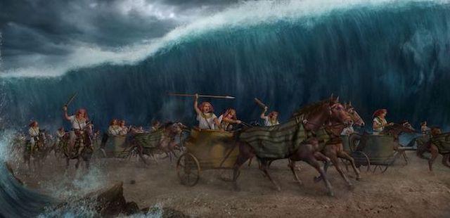 Pharao verfolgt die Israeliten