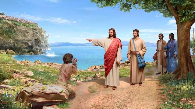Der Herr Jesus treibt Daemonen aus