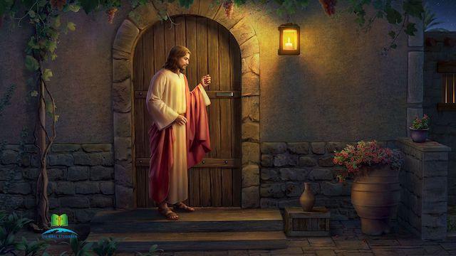 der Herr Jesus klopft an die Tuer