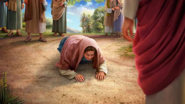 Salome, die Mutter von Johannes, richtet eine Bitte an den Herrn