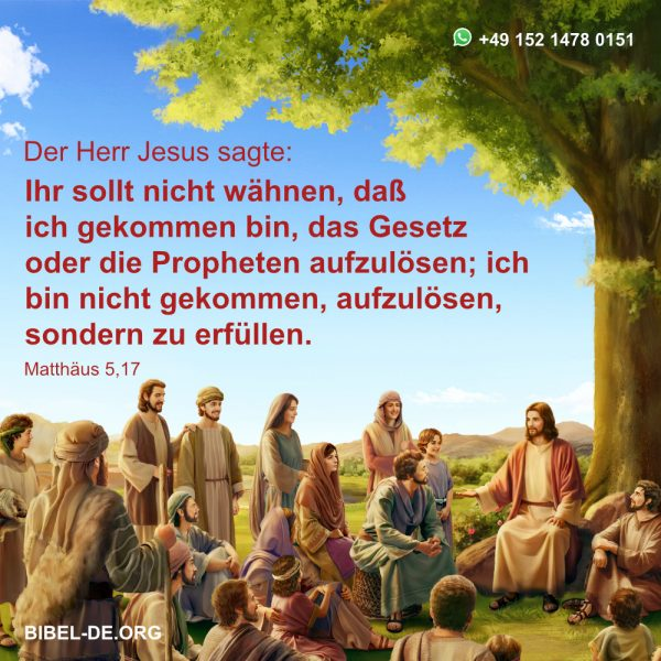 der Herr Jesus predigt